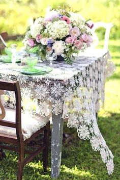 Lace in the garden