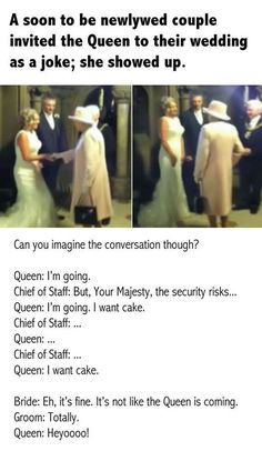 That One Time The Queen Showed Up To Someone's Wedding