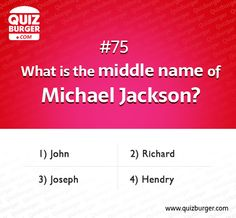 What is the middle name of Michael Jackson?