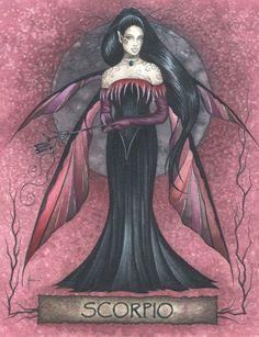 Jessica Galbreth SCORPIO Zodiac Fairy Sticker Decal NEW