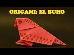 ▶ Origamis de Papel, Origami para Niños Facil El Buho - YouTube