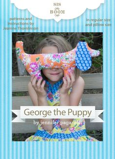 Sewing tutorial: George the Puppy softie, with free pattern