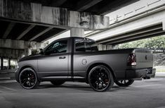 Dodge Ram Matte Black! I really want this car, definitely will stand out in Sweden :)