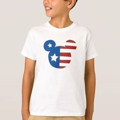 (Patriotic Mickey Mouse Tee Shirt) #American #AmericanFlag #Childrens #Disney #Friends #Logo #Mickey #MickeyMouse #MickeyPatriotic #Mouse #Red #StarsAndStripes #Stripes #WhiteAndBlue #WhiteAndBlueMickey is available on Famous Characters Store   http://ift.tt/2btLVaJ