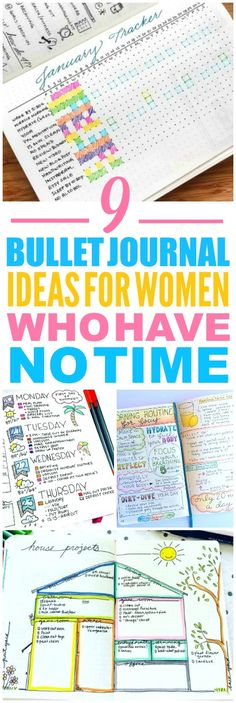These 9 bullet journal ideas are THE BEST! I'm so happy I found these GREAT ideas! Now I have some ideas on how to start a bullet journal. These are great weekly spreads! Such a great layout!
