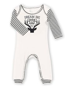 This Tesa Babe Cream & Black Stripe 'Dream Big Little One' Romper - Infant by Tesa Babe is perfect! #zulilyfinds