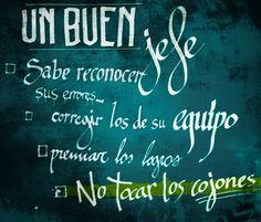 Frase motivadora. Caligrafía Antonio Ayala.#366 #caligraffiti #caligrafia #frase #cita #buenjefe #comoserunbuenjefe