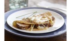 Caramelized Shallot Crepe with Pork Tenderloin and Vanilla Infused Beurre Blanc, Spice Islands