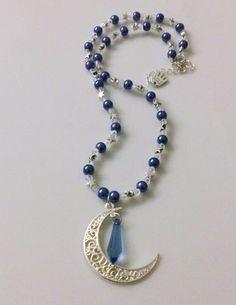 Sternenhimmel - Kette blau von Feekollektion auf DaWanda.com