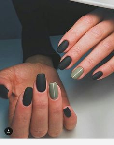 Nails Matte nails Nail designs Minimalist nails Gel nails Autumn nails - The Leaves are changing color and things are getting all cozy and check out these easy fall nail designs for short nails! Short Nail Designs, Fall Nail Designs, Simple Nail Designs, Art Designs, Black Nails With Designs, Matte Nail Designs, Green Nail Designs, Design Ideas, Matte Black Nails