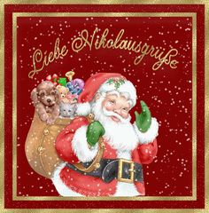 Greetings to St. Nicholas Day Gif I greet you Dear St. - Greetings to St. Nicholas Day Gif I greet you Dear St. Animated Eca I greet you dear - Family Christmas, Christmas And New Year, Christmas Crafts, Merry Christmas, Xmas, Christmas Ornaments, St Nicholas Day, Baby Party, Live Wallpapers