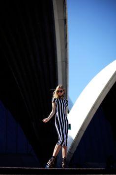 ASOS dress. Sophia Webster heels.