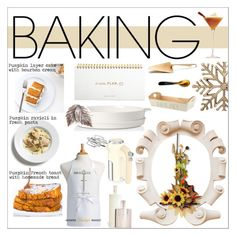 """""""Getting Baked !"""" by onenakedewe ❤ liked on Polyvore featuring interior, interiors, interior design, home, home decor, interior decorating, Swan, French Toast, Villeroy & Boch and Farmhouse Pottery"""