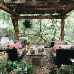 When decorating your outdoor space, a Bohemian garden theme is a popular look that can give your space some bright and playful aesthetics. Outdoor Rooms, Outdoor Living, Outdoor Areas, Outdoor Furniture, Furniture Ideas, Gazebos, Design Jardin, Back Patio, Small Patio