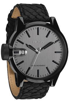 The Chronicle Watch in Black Snake by Nixon