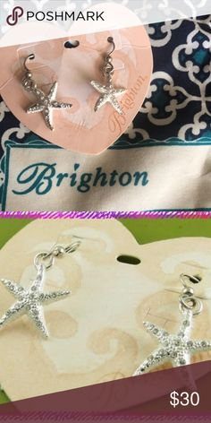 Brighton Earrings Brighton Caribbean Star Fish Earrings   French wire.   Bundle to save Brighton Jewelry Earrings