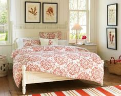 Love this bedding - never seen red look so calming!