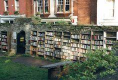 I guess they ran out of bookshelves inside...Hahahahaha! LOL