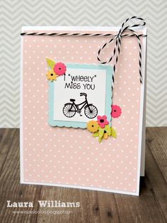 & - *Wheely Miss You Mini Bike card - The Stamps of Life Gallery Form Design, Diy Halloween Projects, Wallpaper B, Bicycle Cards, Chevron, Masculine Birthday Cards, Masculine Cards, Miss You Cards, Handmade Stamps