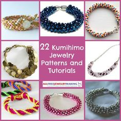 22 Kumihimo Jewelry Patterns and Tutorials