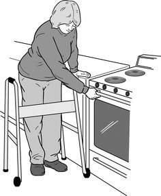 Using a Walker in the Kitchen   Cleveland Clinic