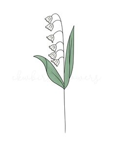 Get your birth flower drawing or sticker from ekwbirthflowers on etsy! #floralart #flowertattoos #flowertattooideas #birthflowers #maybirthstone #lilyofthevalley #botanicalart #linedrawings Baby Stickers, Laptop Stickers, Cute Stickers, March Baby, Stock Flower, Birth Month Flowers, First Tattoo, Lily Of The Valley, Botanical Art