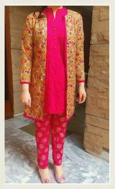 Dresses New Designer Dresses, Designer Kurtis, Indian Designer Outfits, Pakistani Outfits, Indian Outfits, Simple Kurtis, Fasion, Fashion Outfits, Indigo Dress