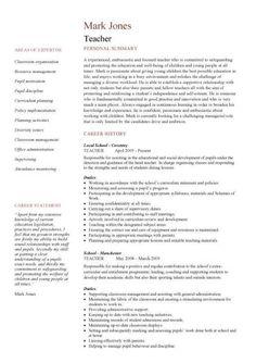 resumes cvs httpwwwteachers resumescomau - Resumescom