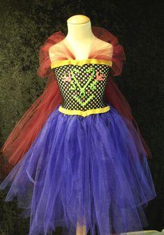 Custom Disney Anna Frozen Inspired Tutu Dress- Perfect for Halloween, Birthdays, Disney Vacation, costumes, and dress up