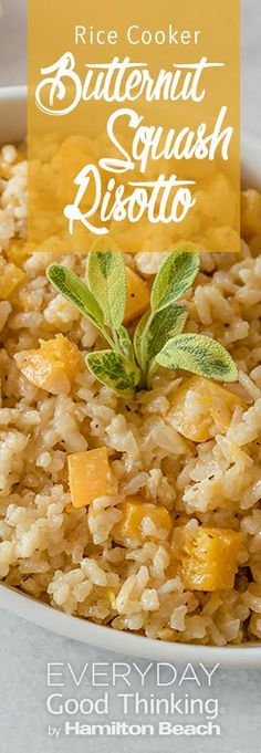 Use a rice cooker to make risotto. You cut down on time, and eliminate the need for constant stirring. This is the best butternut squash risotto recipe. Vegetable Dishes, Vegetable Recipes, Vegetarian Recipes, Healthy Recipes, Rice Cooker Recipes, Cooking Recipes, Rice Dishes, Pasta Dishes, Butternut Squash Risotto