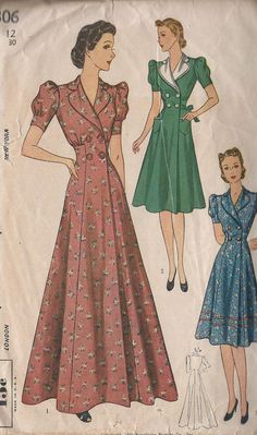 In this modern day, retro sewing patterns are still needed to ease your tailoring job. Yes, although you can create the dress pattern using a computer program, it is not bad to make it manually. In fact, the manual pattern… Continue Reading → 1930s Fashion, Retro Fashion, Vintage Fashion, Vintage Outfits, Vintage Dresses, Vintage Wardrobe, Vintage Dress Patterns, Clothing Patterns, Princess Line Dress