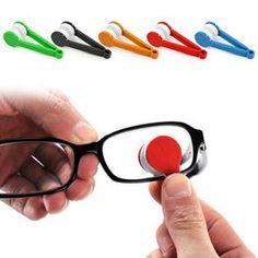 1pcs New Mini Microfiber Glasses Cleaning Brush,Soft Sun Glasses Cleaner Cleaning Tools Glass Wiper