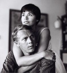 Steve McQueen & Neile Adams by Curt Gunther