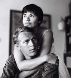 Steve McQueen and Neile Adams at home, 1958. Photo by Curt Gunther.