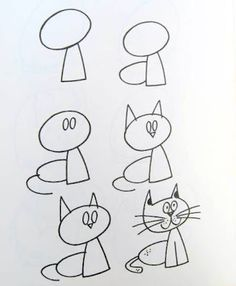 How to draw simple figures? The post How to draw simple figures? … appeared first on Best Pins for Yours - Drawing Ideas Drawing Lessons, Drawing Skills, Drawing Techniques, Drawing Tips, Art Lessons, Drawing Tutorials, Drawing Ideas, Cat Drawing, Doodle Drawings