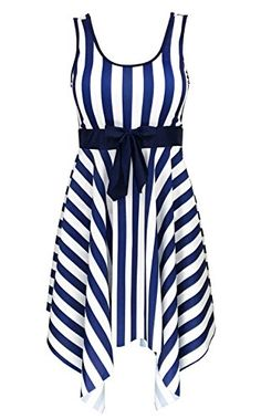 Women's One-Piece Swimsuits - Womens One Piece Swimsuit Sailor Vintage Bathing Suit Plus Size Swimdress *** You can find out more details at the link of the image.