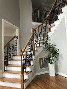 Stair Parts 44 in. Satin Black Decorative Scroll Metal - The Home Depot Staircase Banister Ideas, Wrought Iron Staircase, Wrought Iron Stair Railing, Stair Railing Design, Staircase Remodel, Iron Staircase Railing, Black Stair Railing, Banisters, Stair Case Railing Ideas