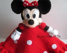 Handmade Crochet Girl Mouse security lovey blanket crochet blanket baby blanket kids