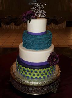 Calumet Bakery Peacock Inspired Wedding Cake