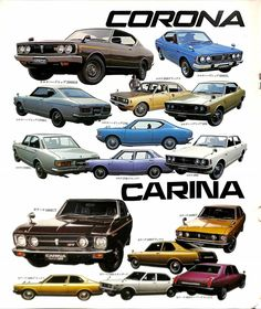 Toyota – One Stop Classic Car News & Tips Classic Japanese Cars, Best Classic Cars, Vintage Japanese, Lexus Cars, Jdm Cars, Jdm Engines, Toyota Carina, Poster Layout, Vintage Posters