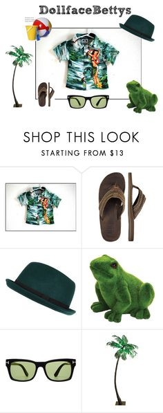 """Boys Rockabilly Shirt Green Tiki Island size 6 by DollfaceBettys"" by dollfacebettys on Polyvore featuring BKE, River Island, Exhart and Tom Ford"