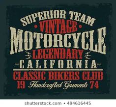 Find Vintage Motorcycle Classic Biker Club Typography stock images in HD and millions of other royalty-free stock photos, illustrations and vectors in the Shutterstock collection. Biker Clubs, Biker Style, Matcha, Royalty, Typography, Motorcycle, Logos, Classic, Music