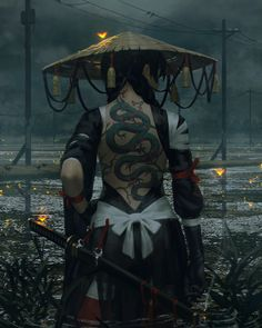 The spirit of the samurai photography – … - Fantasy Figuren Anime Art Fantasy, Fantasy Kunst, Fantasy Girl, Fantasy Artwork, Character Inspiration, Character Art, Character Concept, Ronin Samurai, Female Samurai Art