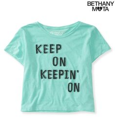 Keepin' On Crop Graphic T from Bethany Mota Collection at Aeropostale