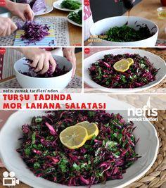 Videolu anlatım Turşu Tadında Mor Lahana Salatası Nasıl Yapılır? 19.555 kişinin defterindeki bu tarifin videolu anlatımı ve deneyenlerin fotoğrafları burada. Yazar: Elif Atalar