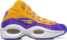Pre-Owned Reebok Question Mid Sns Crocus In Team Purple/ Gold/white Mens Fashion Shoes, Sneakers Fashion, Allen Iverson Shoes, Best Sneakers, Sneakers Nike, Latest Jordan Shoes, Reebok Question Mid, Play Shoes, Nike Boots