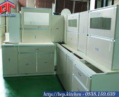 tủ bếp lắp ráp hoàn thiện tại xưởng Quyết Tâm - Tủ Bếp Xinh