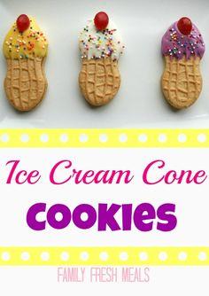 Ice Cream Cone Cookies... Birthdays!