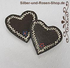 Ton Tischkarte Lebkuchen Herz bayrisch - Silber-und-Rosen-Shop