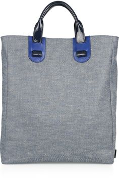 denim tote (the interior is red)